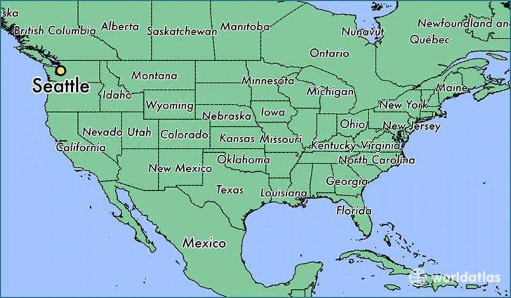 シアトルの世界地図